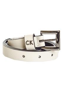 Cinto Couro Calvin Klein - Feminino