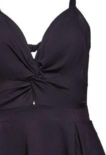 Vestido Curto Almaria Plus Size Sinap Detalhe Torc