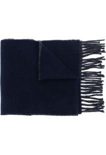 Polo Ralph Lauren Cachecol Com Logo Bordado - Azul