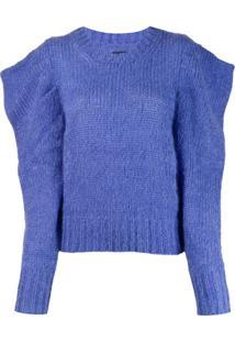 Isabel Marant Suéter Ivelyne Com Ombreiras - Azul