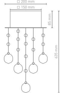 Plafon Cristal Para 1 Lâmpada Sonatin Blumenau Transparente