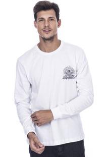 Camiseta Long Island Wd Masculina - Masculino-Branco