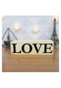 Cubo Decorativo Com Letras Em Acrílico Love Único