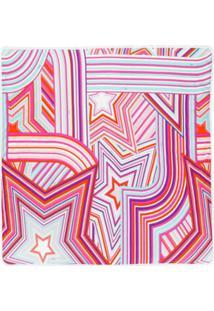 Emilio Pucci Cobertor Com Estampa - Rosa