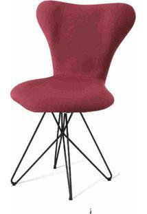 Cadeira Jacobsen Series 7 Marsala Com Base Estrela Preta - 55926 - Sun House