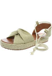 Sandalia Mariha Calçados Flatform Juta