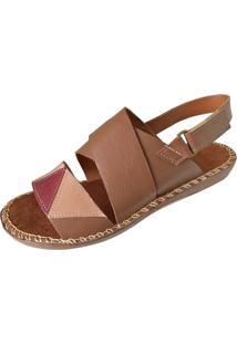 Sandalia Scarpe Velcro Caramelo