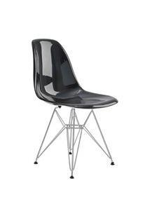 Cadeira Eif.S/Br Pc Preto Solido Base Cromada Rivatti