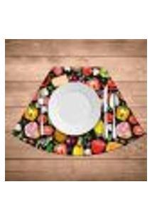 Jogo Americano Para Mesa Redonda Wevans Premium Pizza Kit Com 6 Pçs