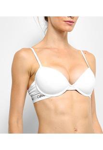 Sutiã Calvin Klein Com Bojo Push-Up - Feminino-Branco