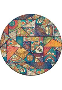 Tapete Love Decor Redondo Wevans Mandalas Multicolorido 94Cm