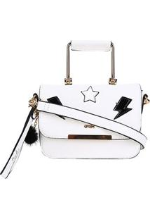 Bolsa Gash Mini Bag Nah Cardoso Feminina - Feminino-Branco
