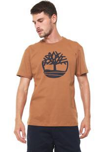 Camiseta Timberland Ss Kennebec Rvr Tree Caramelo