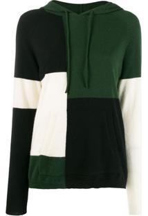 Chinti & Parker Moletom Color Block Com Capuz - Verde