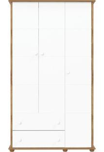 Guarda-Roupa 3 Portas Fratelli Branco E Teka Matic Móveis