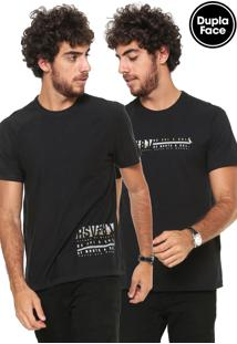 Camiseta Reserva Dupla Face Icone Preta