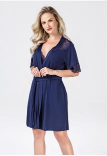 Robe Feminino Com Renda No Ombro 280012 Brilho Da Seda
