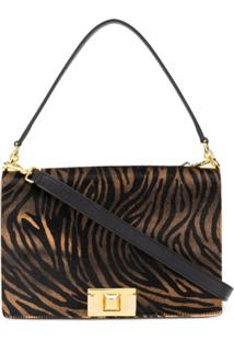 Furla Animal Print Crossbody Bag - Marrom