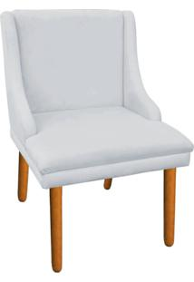 Cadeira Sala De Jantar Liz Suede Cinza - D'Rossi