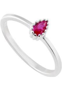 Anel Giullia Ferraz Store Gota Prata 925 Feminino - Feminino-Vermelho