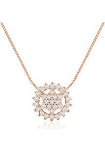Pingente Ouro Rosã© E Diamantes