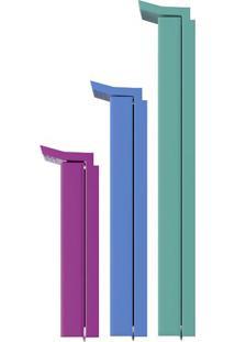 Prendedor Para Embalagens- Roxo & Azul- 9Pçs- Eueuro Homeware