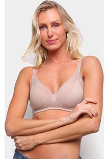 Sutiã Elegance Plus Size Sem Bojo Lady Plus Feminino - Feminino-Nude