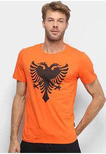 Camiseta Cavalera Águia Masculina - Masculino-Laranja