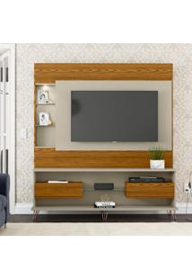 Estante Para Home Theater E Tv Até 52 Polegadas Evolution Cumaru E Off White