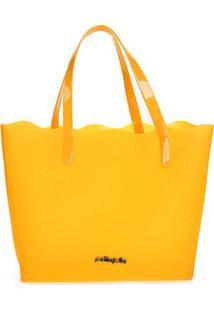 Bolsa Petite Jolie Shopper Liz Feminina - Feminino-Amarelo