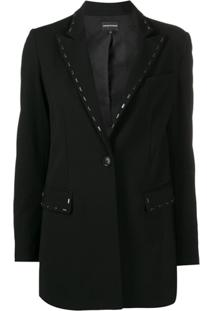 Emporio Armani Embellished Fitted Jacket - Preto