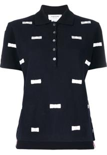 Thom Browne Bow Embroidery Polo - Azul
