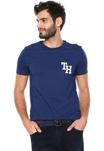 Camiseta Tommy Hilfiger Th Felt Azul-Marinho