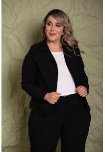 Blazer Camille Black Plus Size