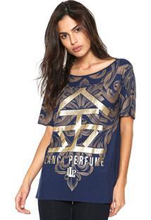 Camiseta Lança Perfume Estampada Azul-Marinho