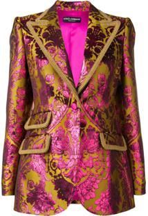Dolce & Gabbana Blazer De Jacquard - Amarelo