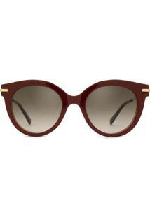 Óculos De Sol Max Mara Needle Vi Feminino - Feminino-Vinho