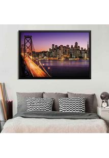 Quadro Love Decor Com Moldura San Francisco Preto Grande