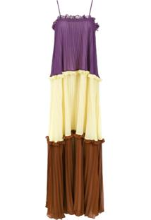 Adriana Degreas Vestido Longo Alças Finas - Estampado