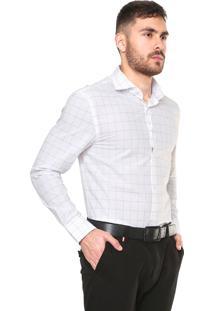 Camisa Vr Urban Fit Xadrez Branca