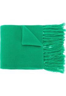 Ami Paris Cachecol Canelado De Lã Merino - Verde