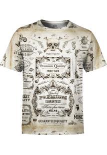 Camiseta Estampada Over Fame Caligrafia Old School Branca