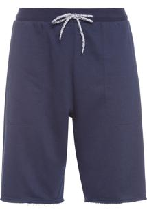 Bermuda Masculina Training Knit - Azul