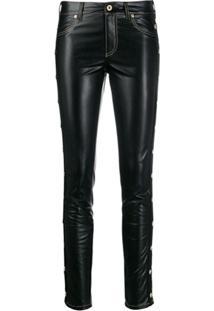 Versace Jeans Couture Calça Skinny Com Tachas - Azul