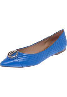 Sapatilha Dumond Clássica Bico Fino Matelasse Logo Azul