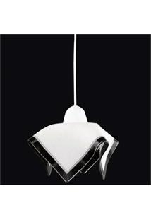 Pendente Tulipa Color Para 1 Lâmpadas Branco E Preto