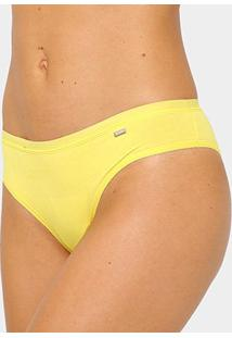 Calcinha Tanga Lupo Loba Lisa - Feminino-Amarelo