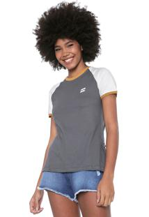 Blusa Billabong College Cinza/Off-White