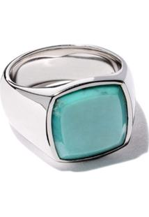 Tom Wood Cushion Turquoise Ring - Silver