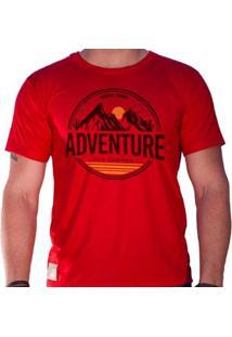 Camiseta Eco Canyon Hiking Masculina - Masculino-Vermelho
